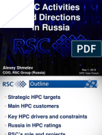 HPC Activities & Direction in Russia_RSC Group-AlexeyShmelev-01May