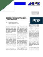 Normas y Especificaciones Para Adoquines de Concreto en Paises Latinoamericanos