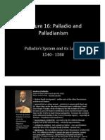 Lecture 16 Palladio