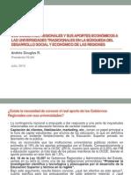 Los Gobiernos Regionales y sus Aportes Económicos