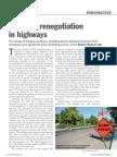 Contract renegotiation in highways
