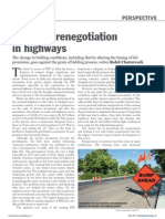 Contract renegotiation in highways