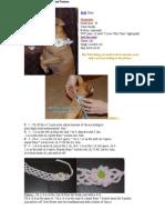 Lattice Dog Collar Crochet Pattern