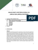Analiza Swot a Sectorului Rural Si a Agriculturii Judetului Botosani