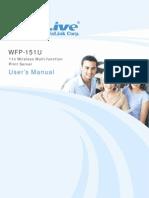 AirLive WFP-151U Manual