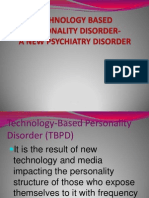 Tecnology Based Disorder