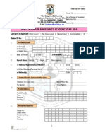 Undergraduate Application Form 2014