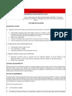 Customs Informations