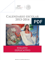 Folleto Explicativo Calendario Escolar 2013-2014 -Jromo05.Com