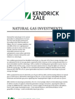 Natural Gas Investments | Kendrick-Zale Ltd