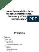 Tema 4 - Gadamer y la hermenéutica contemporánea