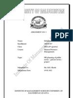 HR planning process in lady health worker program balochistan