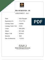 MU0013 Solved Assignment smu
