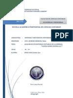 Análisis de Los Sistemas Contables de la Fabrica de Muebles ALFEZA HOME CENTER SAC