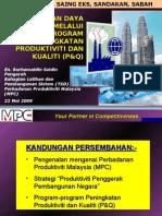 Peningkatan Daya Saing Melalui Program Peningkatan Produktiviti dan Kualiti (P&Q)