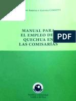 Manual del Quechua en Comisarías