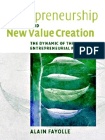 Entrepreneurship and New Value Creation - 0521855187