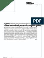 """17/07/2013 Torino Cronaca.""""Siete fessi-collusi"""", Caos sul consigliere grillino"""
