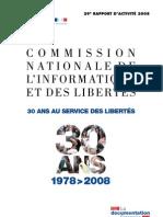 CNIL - le rapport 2008