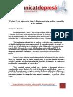 PSD - Comunicat de Presa - Europarlamentarul Corina Cretu - Protest Fata de Denigrarea Imigrantilor Romani in Presa Italiana - 16.07.2013
