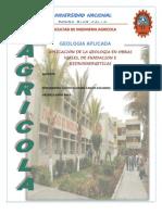 APLICACIÓN DE LA GEOLOGIA EN OBRAS VIALES, DE FUNDACION E HIDROENERGETICAS