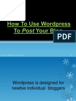 How to Use Wordpress to Post Your Blog