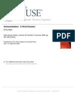 Untranslatables a World System