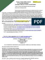 WCPS Gr 8 Soc Studies Curriculum Guide 2012 DRAFT REV