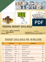 Pakistan Budget 2011-2012 silent feature