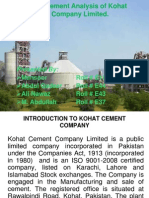 Financial statement analysis of kohat cement company limited