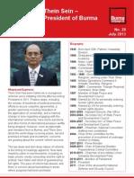 Profile of Thein Sein - President of Burma