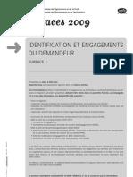 S1 Identification Demandeur