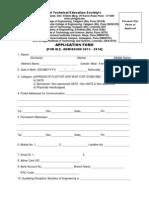 ME Admission form sinhgad college