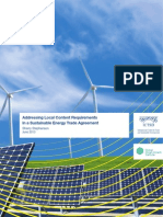 Addressing Local Content Requirements in a Sustainable Energy Trade Agreement