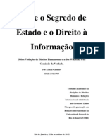 Entre o Segredo de Estado e o Direito à Informação