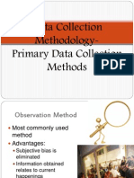 Primary Data Collection Methods