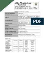 ACTA DE OBRA PARCIAL N° 01 PARQUE LOS CORRALES