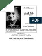 David Bronsen - Joseph Roth-Eine Biographie