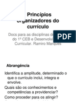 Princípios organizadores do currículo