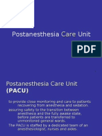 9 the Post Anesthesia Care Unit