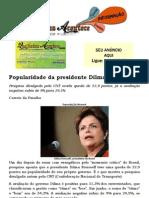 Popularidade Da Presidente Dilma Volta a Cair
