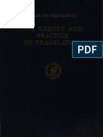 (Helps for Translators 8)Eugene a. Nida, Charles R. Taber-The Theory and Practice of Translation. With Special Reference to Bible Translating (Helps for Translators 8) -Brill(1969)