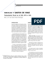Viáticos y gastos de viaje. Tratamiento fiscal en el ISR, IETU e IVA