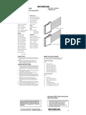 [DIAGRAM_4PO]  Factory Wiring Harness- Dodge Ram- Scosche | Dodge | Chrysler | Scosche Wiring Harness Diagram 88 Jeep Cherokee |  | Scribd