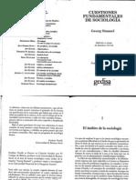Simmel (2002) El Ambito de La Sociologia