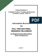 Information Brochure PhD 2013