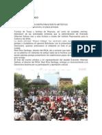 16-07-13 TURISTAS Y FAMILIAS DISFRUTAN EVENTO ARTÍSTICO.