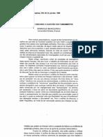 Análise de Discurso - A Questão dos Fundamentos