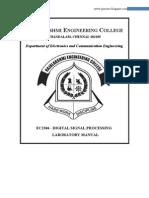 Ec2306 - Digital Signal Processing