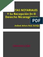 Las Actas Notariales Y Su Recepción En El Derecho Nicaragüense
